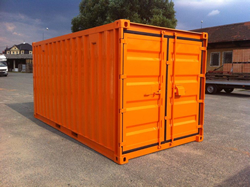 20 Fuss Lagercontainer lackiert in orange